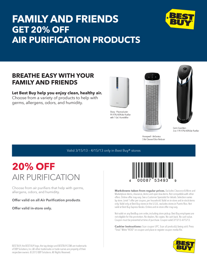 air purification coupon