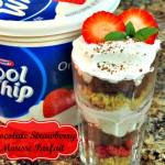 Chocolate Strawberry Mousse Parfait Recipe @lisasamples #KraftRecipes