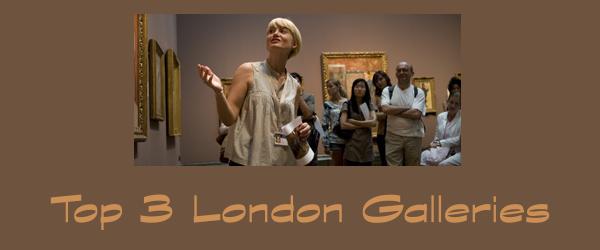 top 3 london galleries @lisasamples #art