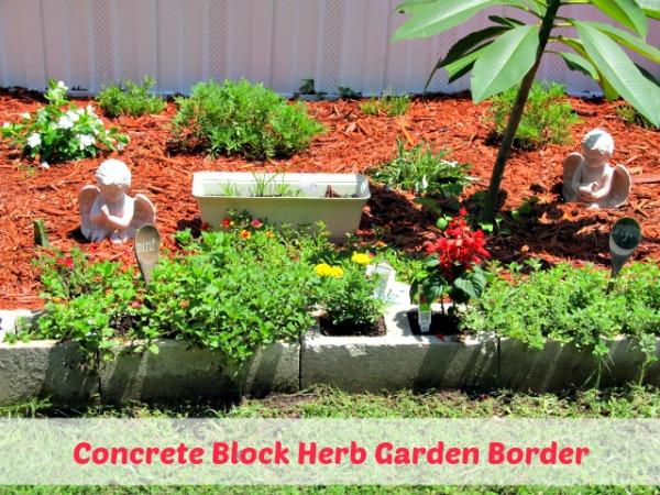 Cinder Block Herb Garden Border Ideas