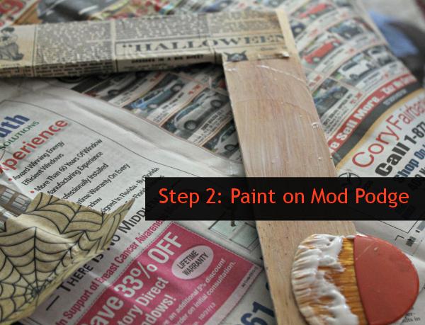 Step 2 Mod Podge
