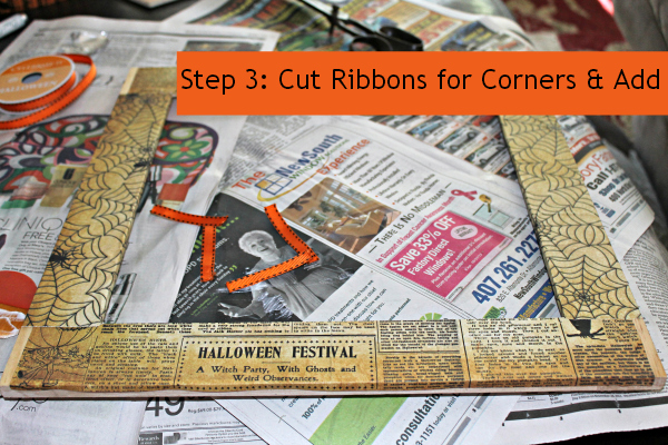 Step 3 Ribbons for Corners