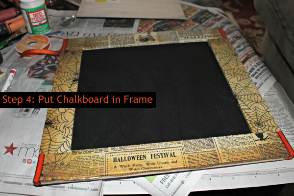 Step 4 Add Chalkboard