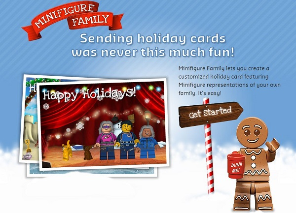 Make your own LEGO family with a LEGO Minifigure Holiday Card ...