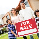 Family with house for sale
