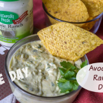 Game Day Appetizer: Avocado Ranch Dip and Chips