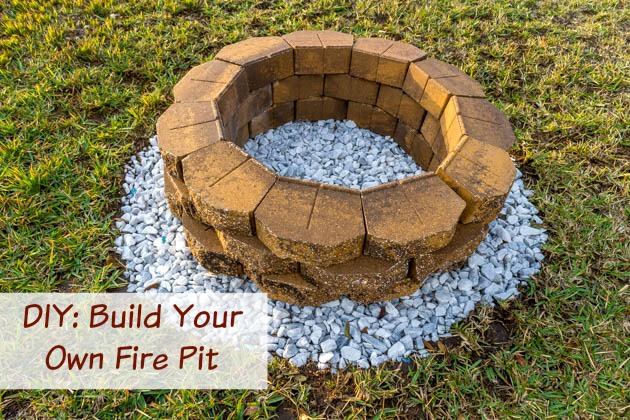 diy build a backyard fire pit