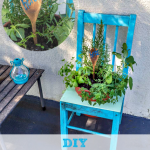 DIY Garden Chair Planter with Herbs