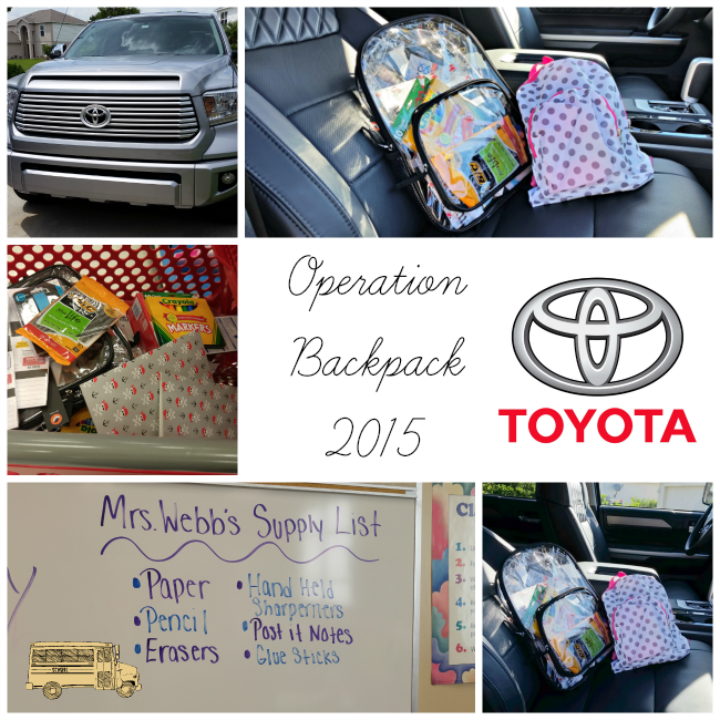 Operation Backpack Collage