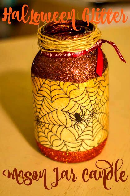 Glitter Mason Jar Candle Holder (1 of 2)