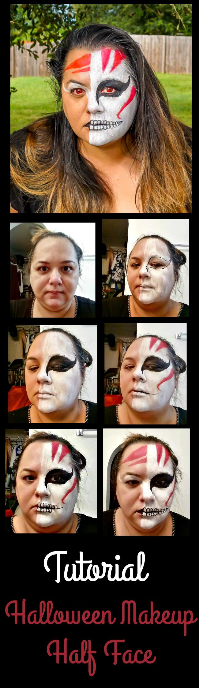 Halloween Makeup Half Face Tutorial 2015