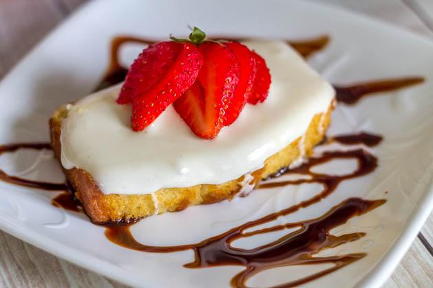 Strawberry Marshmallow Pound Cake w Chocolate Sauce (1 of 1)