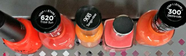 orange nail polish for fall
