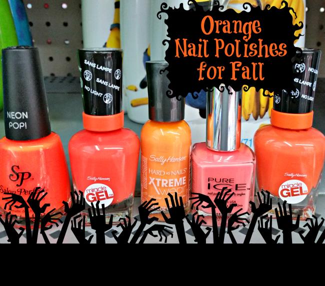 orange nail polishes for fall