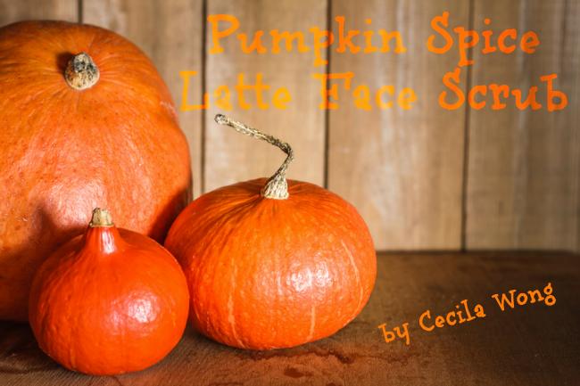 pumpkin spice latte face scrub