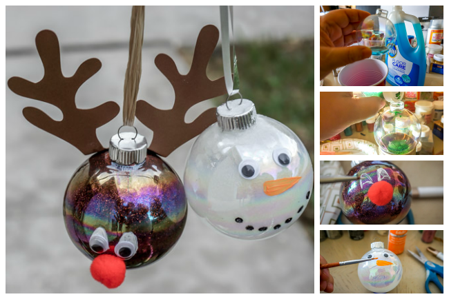 Diy christmas glitter ornaments life with lisa