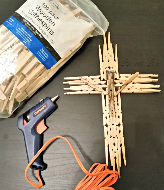 Wooden Clothespin Crucifix Supplies