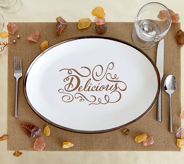 delicous dinner plate