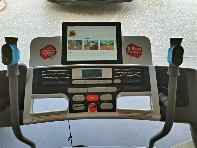 Goji Play on Treadmill