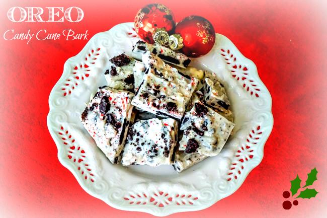 OREO Candy Cane Bark Recipe 2