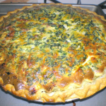 New Years Turkey Sausage and Spinach Quiche