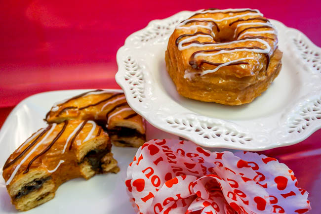 Dunkin Donuts Fudge Croissant Donut (3 of 4)