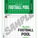 BIG GAME Football Pool Printable