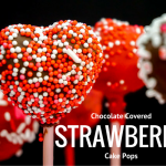 Heart Shaped Chocolate Covered Strawberry Cake Pops