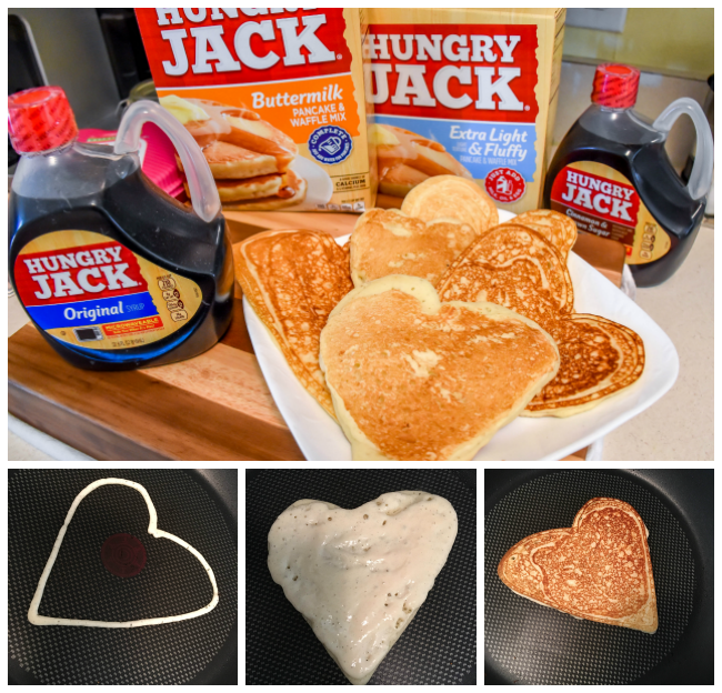 Hungry Jack Heart Shaped Collage