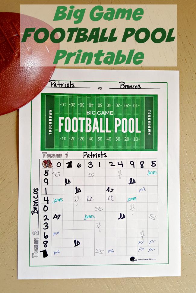 big game football pool printable life with lisa