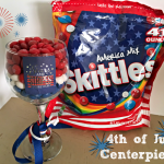 4th of July Table Centerpieces featuring the Skittles® America Mix
